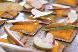 Craquelins, pommes et fromage fondu recette