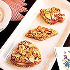 Barres danoises au fromage P'TITE ABEILLE à la crème et aux framboises Recipe