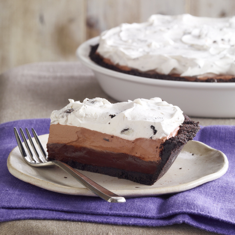 Triple-Chocolate Layered Pie Recipe