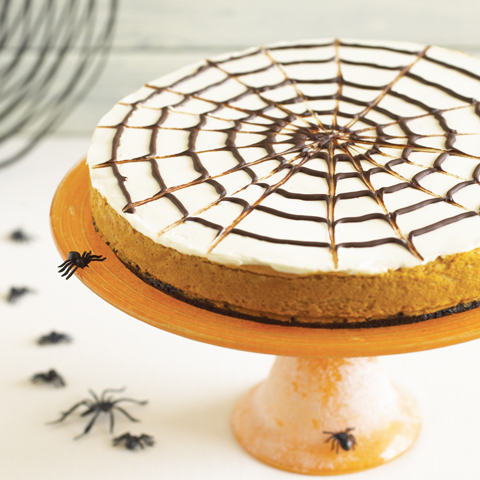 Spiderweb OREO Pumpkin Cheesecake Recipe