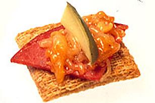 salami cheddar bites bruschetta triscuit fondue bites turkey waldorf ...
