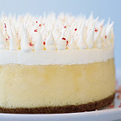 White Chocolate-Candy Cane Cheesecake Recipe