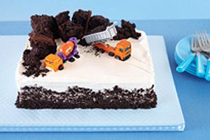 Gâteau d'anniversaire chantier de construction recette