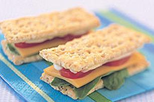 Mini-sandwichs de craquelins recette