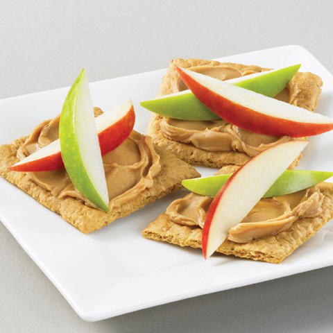 HONEY MAID Apple-Peanut Butter Bites Recipe