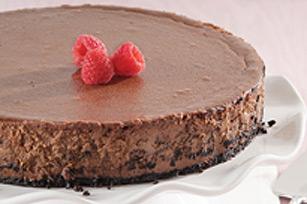 Gâteau au fromage truffé au chocolat recette