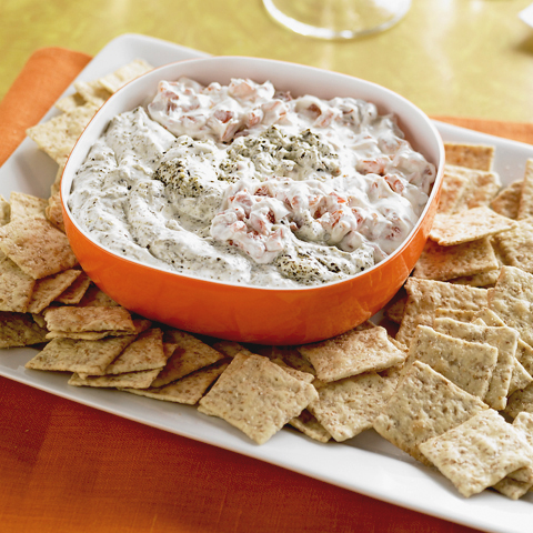 WHEAT THINS Pesto & Roasted Red Pepper Dip Recipe