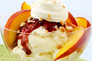 Peach Melba Icy Delight Recipe