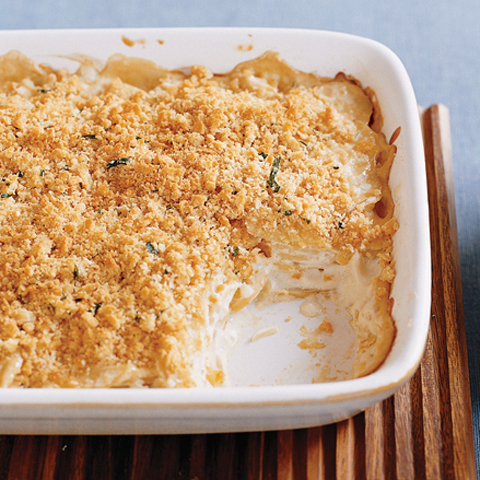RITZ-Topped Dijon Scalloped Potatoes Recipe