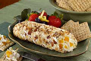 Apricot & Almond Cheese Log Recipe