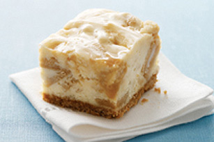 Golden Caramel Cheesecake Bars Recipe
