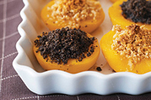 Baked Peaches with OREO Topping Recipe