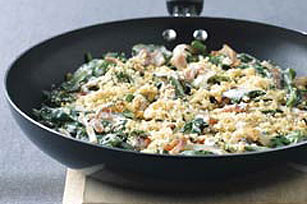 Skillet Spinach Gratin Recipe