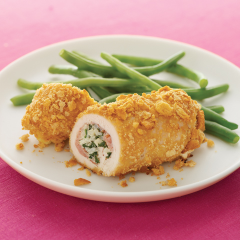 Paupiettes de poulet au riz et au jambon avec garniture RITZ Recipe