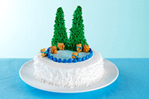 Ice Skating Wonderland Cake Recipe
