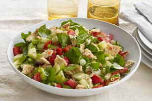 Mediterranean Bread Salad (Fattoush) Recipe