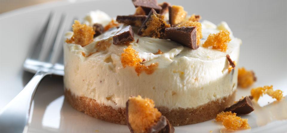 White Chocolate Honeycomb Cheesecake Recipe