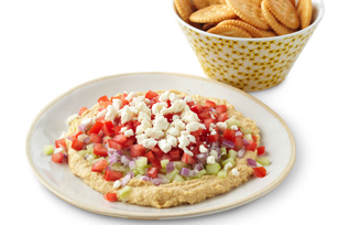 Chunky Vegetable Hummus Spread Recipe