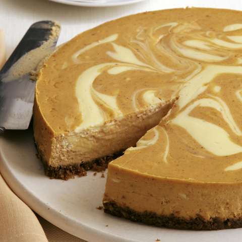 Pumpkin Swirl GINGER CRISP Cheesecake Recipe