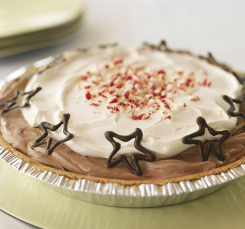 Peppermint-Chocolate Pudding Pie Recipe