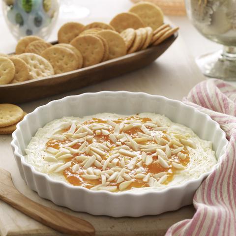 RITZ avec tartinade douce et épicée au fromage recette