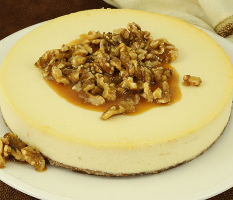 Caramel Walnut Cheesecake with NABISCO Grahams Recipe