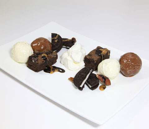 Brownie Turtle Sundae for Two with OREO Recipe