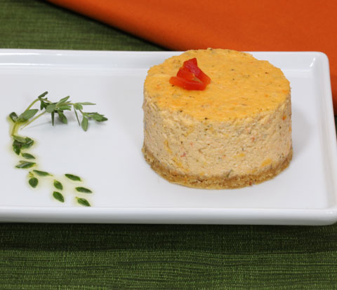 Roasted Red Pepper & Pesto Cheesecake made with RITZ Crackers Recipe