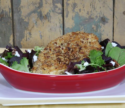 Mustard-Pecan Coated Chicken with PREMIUM Cracker Meal Recipe