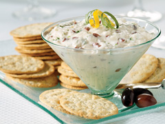 Greek Olive and Onion Spread with RITZ Recipe