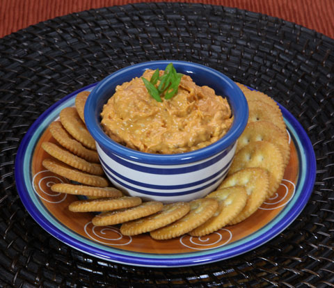 Spicy Buffalo Blue Cheese Bacon Dip with RITZ Crackers Recipe