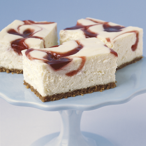 New York-Style Strawberry Swirl Cheesecake Squares Recipe