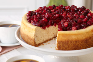 Cranberry-Glazed Cinnamon Cheesecake Recipe