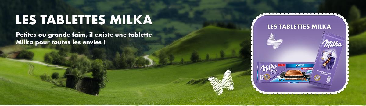 Les tablettes Milka