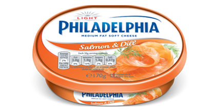 Philadelphia Light with Salmon & Dill