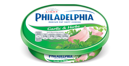 Philadelphia Light with Garlic & Herbs