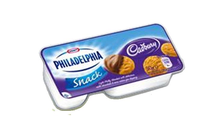 Philadelphia with Cadbury Snack