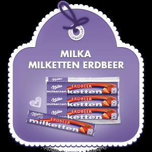 Milka Milketten Erdbeer