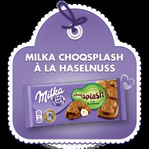 Milka Choqsplash à la Haselnuss