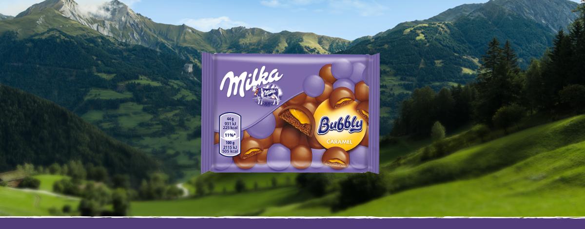 Milka Bubbly Caramel Pocket