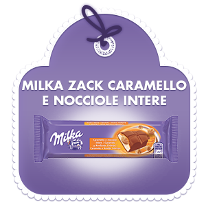 Milka Bar Caramello e Nocciole intere