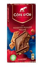 BLOC Lait Noisettes Feuilleté Praliné