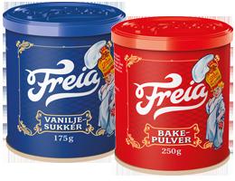 Freia Bakepulver og Vaniljesukker