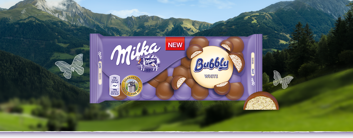 Milka Bubbly White