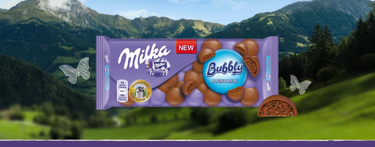 Milka Bubbly Lapte