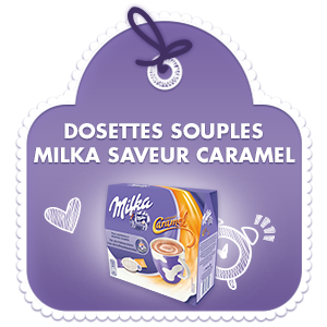 Dosettes Souples Milka Saveur Caramel
