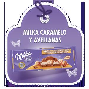 MILKA CARAMELO Y AVELLANAS ENTERAS