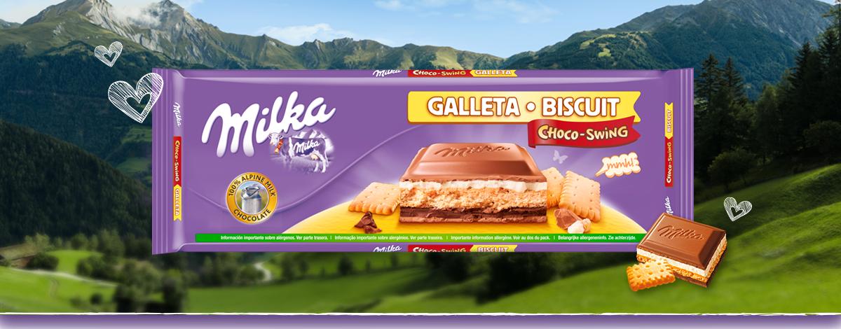 MILKA CHOCO-SWING GALLETA