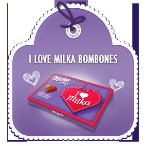 I LOVE MILKA BOMBONES