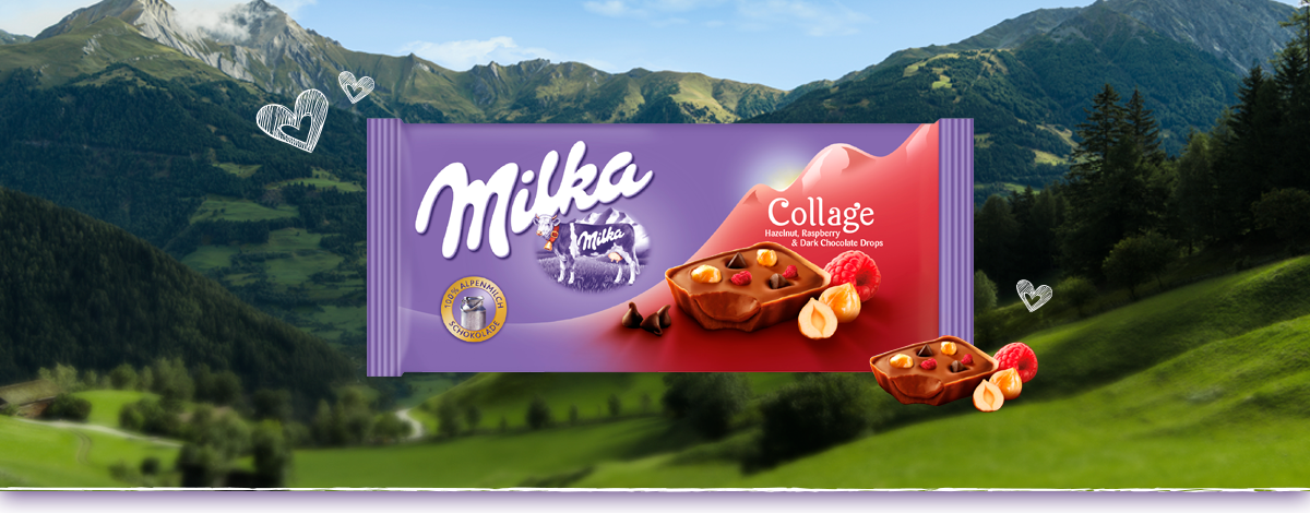 MILKA COLLAGE FRAMBUESA